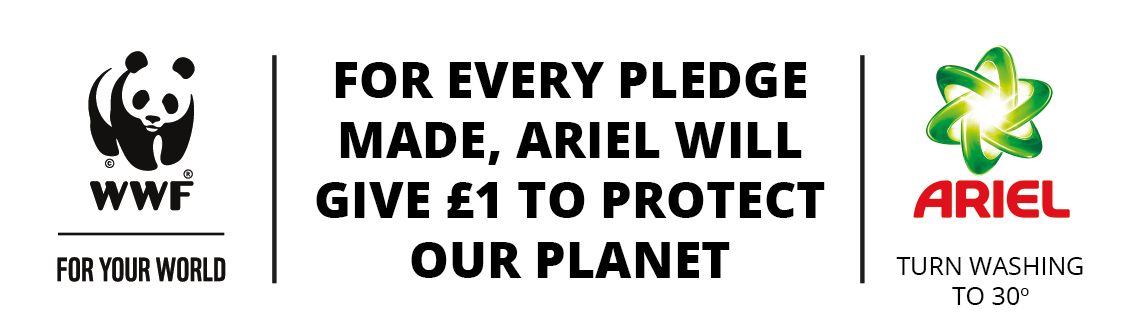 For every pledge made, Ariel will give £1 to protect our planet