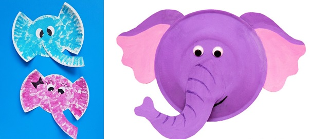 Elephant paper plate crafts