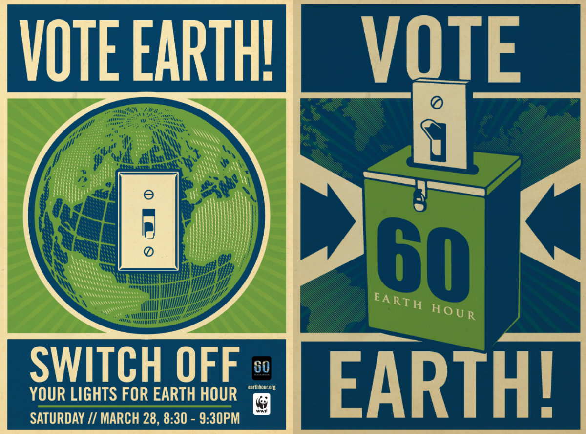 Vote Earth posters