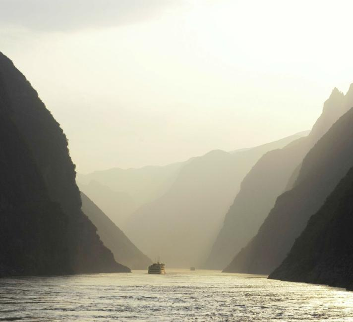 The Yangtze River is home to some of China's most spectacular natural scenery, a series of canyons the Qutang Gorge, Wuxia Gorge and Xiling Gorge, collectively known as the Sanxia, or Three Gorges