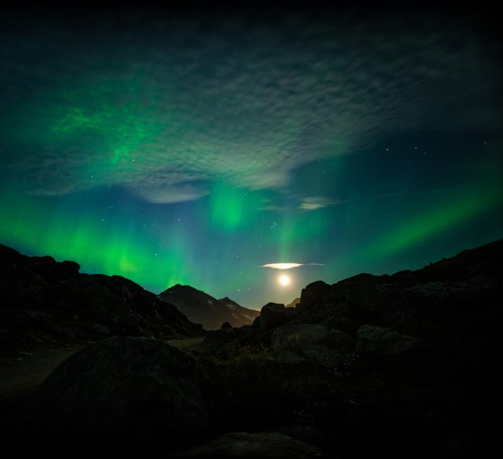 Northern lights above the Arctic