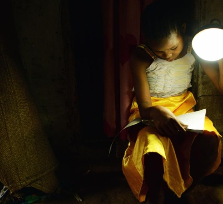 Girl with lamp