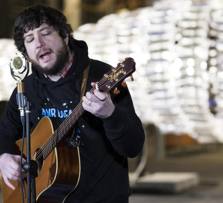 Gareth Bonello performs for Earth Hour at Senedd, Cardiff