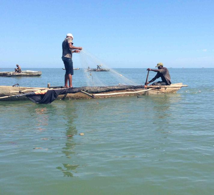 fishing for shrimp in madagascar