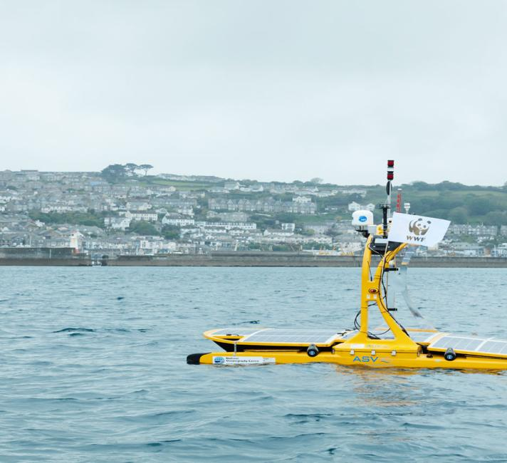 Thomas the marine robot out at sea