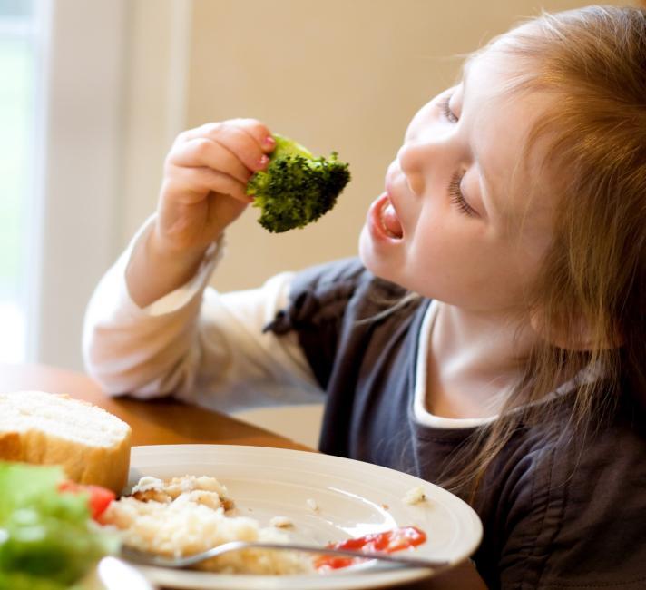 Girl Eating Heathy Food