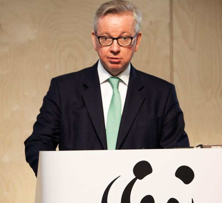 Environment Secretary Michael Gove during his speech at WWF-UK