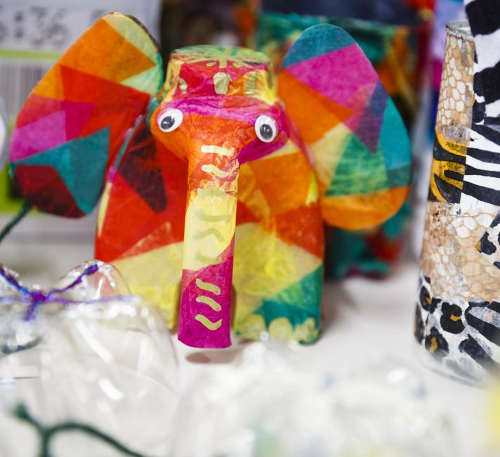 Milk bottle elephant lanterns
