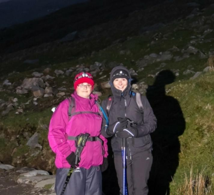 Walkers taking part in the Snowdon by Night Challenge