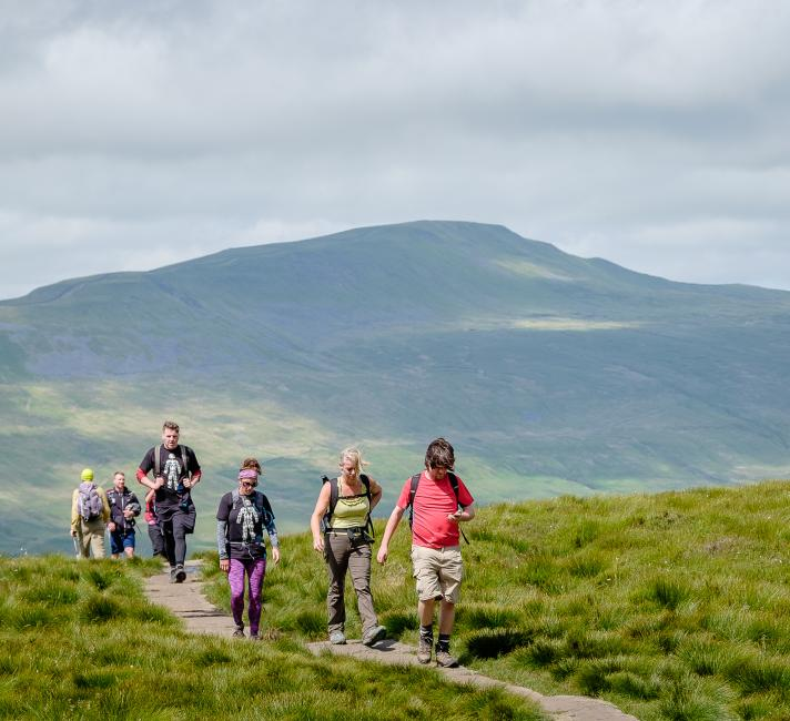 Walkers taking part in the Yorkshire Three Peaks Weekend