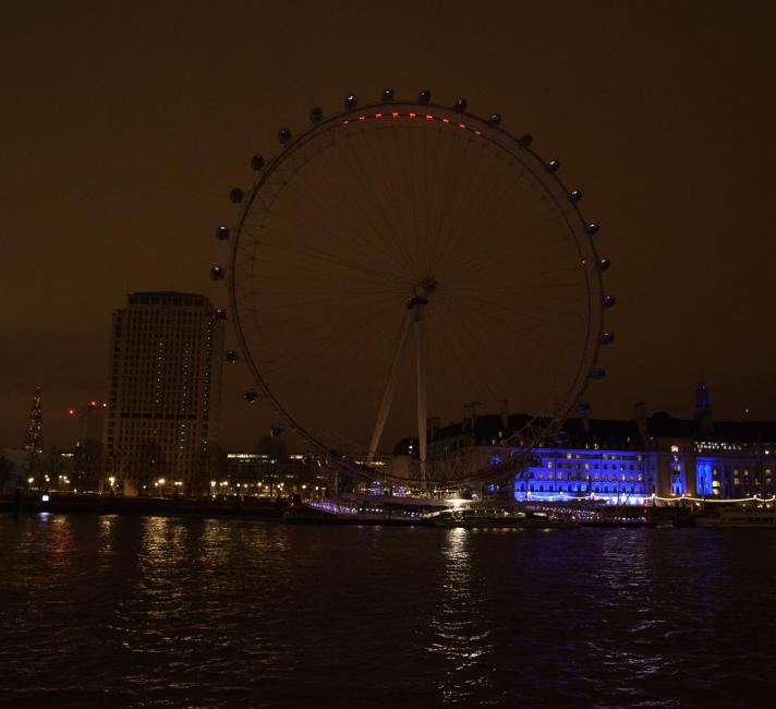 London Eye with the Lights out