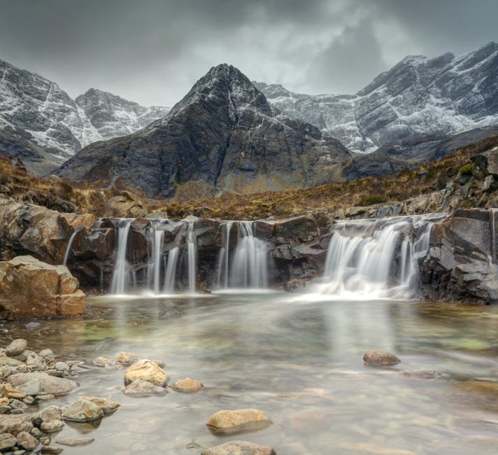 Scottish waterfall