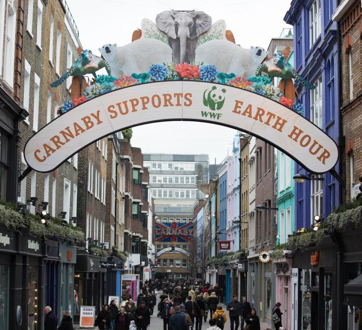 Carnaby Street for Earth Hour