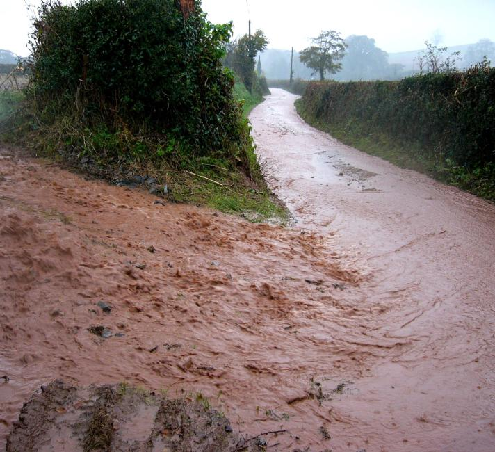 Soil erosion after heavy rain © Richard Smith, Environment Agency