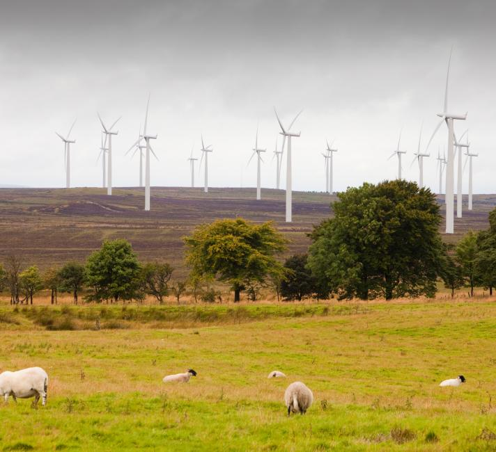 Black Law windfarm near Carluke in Scotland, UK.