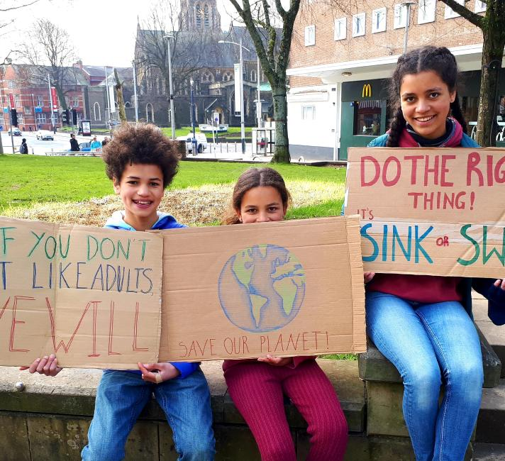 Youth climate strikers, Swansea