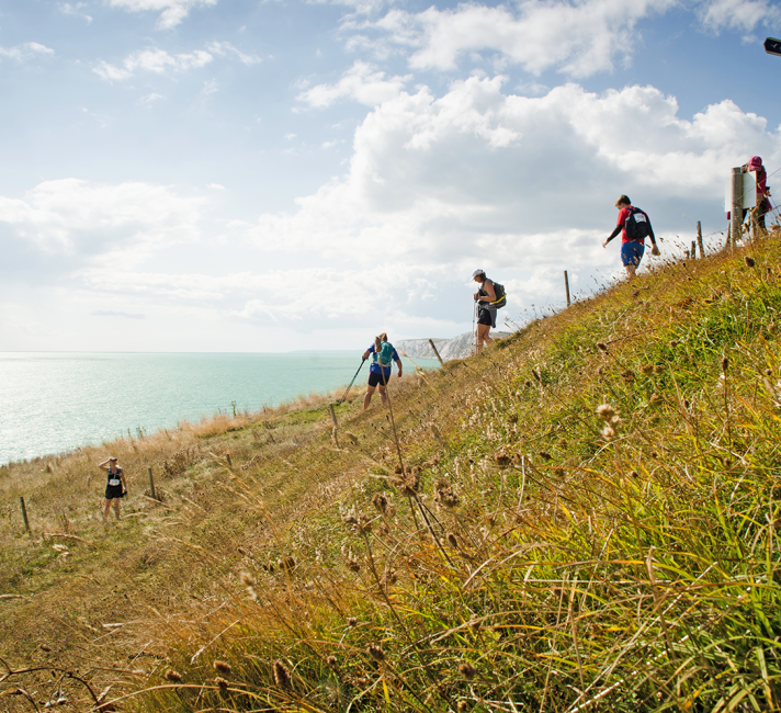 Walkers taking on the Isle of Wight Challenge