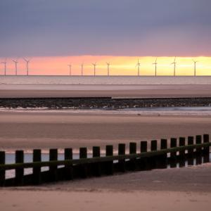 Wind farm off of the coast of Wales