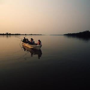 Fishermen on the Paraguay River Pantanal