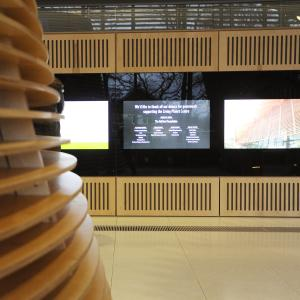 Screens in the Living Planet Center (LPC)