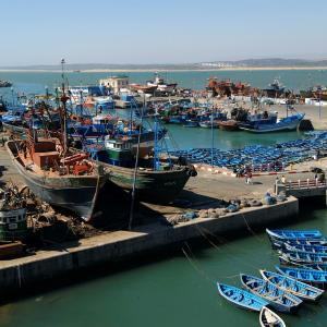 Fishing port of Essaouira, Morocco